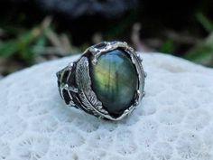 "Ready ring 6, 7 sizes. 925 Silver Labradorite Ring ""Lanka"". Labradorite Jewelry…"