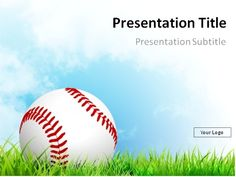 Free baseball in the grass powerpoint template this powerpoint baseball powerpoint template download baseball on grass with blue sky powerpoint template toneelgroepblik Choice Image