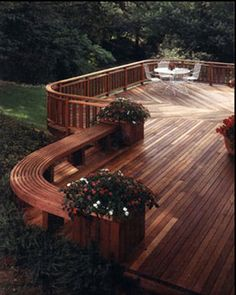 Unique decks gardens on pinterest decks roof deck and for Beautiful garden decking