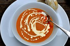 A wonderfully velvety soup with a rich smoky flavour that makes you want to keep going back for more. Roasted Butternut Squash Soup, Peanut Butter, Cooking Recipes, Lunch, Entertaining, Make It Yourself, Ethnic Recipes, Food, Chef Recipes