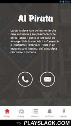 Al Pirata  Android App - playslack.com , Il Ristorante Al Pirata è lieto di presentarvi la sua nuova applicazione mobile, attraverso la quale potrete organizzare e completare la vostra visita, oltre a mantenervi sempre aggiornati su tutte le iniziative e promozioni da noi proposte. L'applicazione vi darà la possibilità di beneficiare di alcune features specifiche per dispositivi mobile quali: - Shortcut di chiamata per contattarci telefonicamente - Mappa interattiva interfacciata con il…