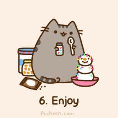 pusheen.com! Awww what a cutie cat! <3