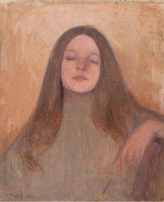 Ellen Thesleff, portrait of Thyra Elisabeth 1892 Jan Van Eyck, Portrait Art, Portraits, Artist Art, Art World, Figurative Art, Van Gogh, Art History, Art Museum