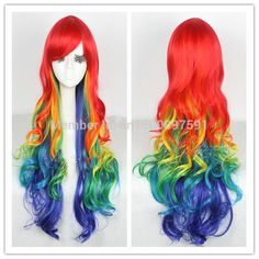 free Shipping*^^^75cm Long Multicolour Rainbow Harajuku Curly Wave Cosplay Party Hair Wig     #http://www.jennisonbeautysupply.com/    http://www.jennisonbeautysupply.com/products/free-shipping75cm-long-multicolour-rainbow-harajuku-curly-wave-cosplay-party-hair-wig/,     Welcome to our shop ! Your ...     Welcome to our shop !Your satisfaction, our pursuit!Why so cheap here  ??? 1) we only sell by fractory price !   2) we could send by bottom shipping cost 3) we hope Establish…