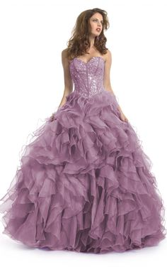 Purple Princess Floor-length Sweetheart Dress [Dresses 9723] - $223.00 :