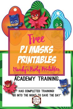 PJ Masks Training Certificate and Straw Tags |