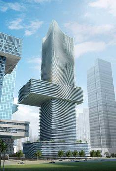 Headquarter of China Insurance Group Shenzhen  Shenzhen Skyscraper Building - design by COOP HIMMELB(L)AU