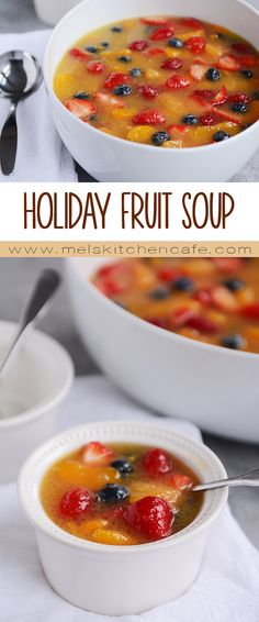 This Holiday Fruit Soup is unique, delicious and so lovely to look at.