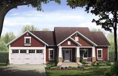 House Plan 59980 | Cottage Country Craftsman Plan with 1801 Sq. Ft., 3 Bedrooms, 2 Bathrooms, 2 Car Garage