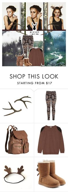 """Deer Halloween Costume"" by chey-love ❤ liked on Polyvore featuring maurices, H&M, Brunello Cucinelli and UGG Australia"