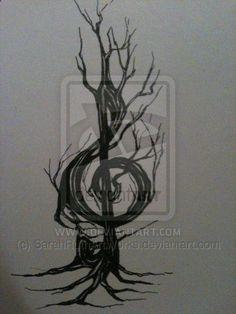 treble clef tattoo | Treble Clef - tattoo design for Matt by ~SarahRuthArtWorks on ...