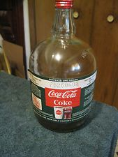 Vintage Coke Coca Cola One Gallon Glass Syrup Bottle Jug