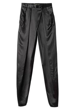 Satin wrap trousers