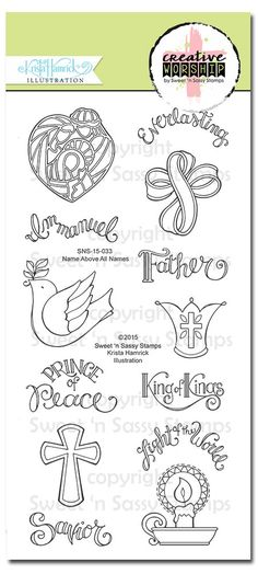 Name Above All Names Bible Journaling Faith Stamps