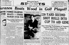 "On this day, In 1935, Gene Sarazen sunk the ""Shot Heard Around The World"" — Golf History Today"