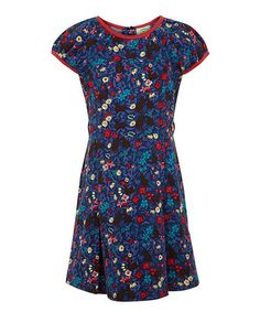 Loving this Navy Floral Dress - Toddler & Girls on #zulily! #zulilyfinds