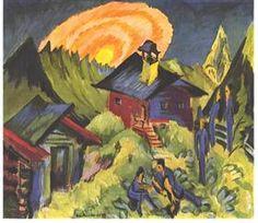Moon Rising at the Staffelalp - Ernst Ludwig Kirchner
