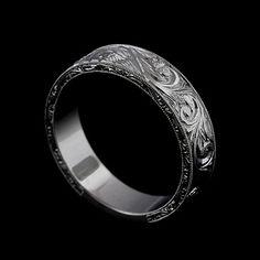 Men's wedding band to match with the engagement ring! Titanium Wedding Rings, Custom Wedding Rings, Wedding Ring Bands, Unique Rings, Beautiful Rings, Denim Armband, Wedding Men, Trendy Wedding, Watches