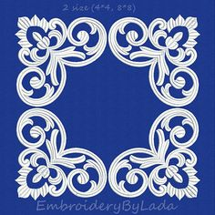 Frame Machine embroidery design doily ornament от EmbroideryByLada