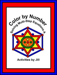 Make practice fun with this color by number activity!  Students will solve multi-step equations resulting in integer solutions. Equations include distributing, variables on both sides, combining like terms and a couple of fractional coefficients.  CCSS 8.EE CCSS A-REI