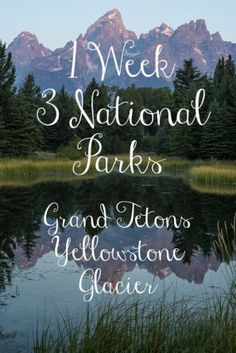 Grand Tetons to Yellowstone to Glacier – 3 National Parks in one week National Park Camping, National Park Tours, Us National Parks, Grand Teton National Park, Yellowstone National Park, Most Visited National Parks, Yellowstone Vacation, Beautiful Park, Vacation Trips