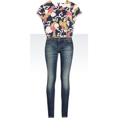 Untitled #46 by dadslilangel on Polyvore featuring polyvore fashion style Zara Armani Jeans