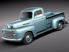 f1 1950 pickup antique 3ds