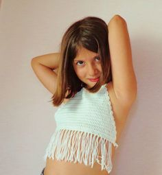 Crochet Halter TopGirlFringe. by byrosali on Etsy