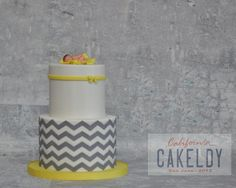 Cake by The Cakeldy using our Chevron Silicone Onlay