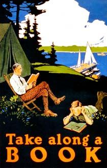 take along a book (from - http://www.loc.gov/shop/index.php?action=cCatalog.showItem=28=233=3376) I Love Books, Books To Read, My Books, Book Posters, Wpa Posters, Travel Posters, O Leitor, Bibliophile, Book Quotes