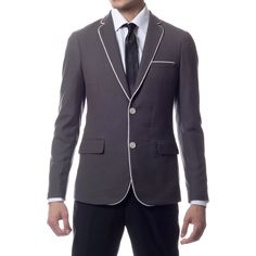 Zonettie by Ferrecci Men's Slim Fit Traveler Blazer Jacket