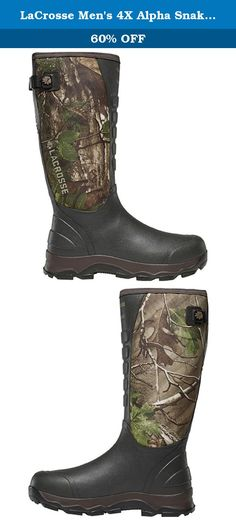 fd304faba7be3 LaCrosse Men's 4X Alpha Snake Hunting Boot, Real Tree Extra Green, 11 M US