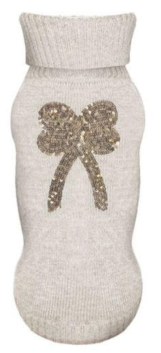 Bow Ecru Dog Sweater by Milk & Pepper...Should I make a trip to New York for this perfectly adorable sweater for Lexi?!