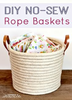 Hi, Today we present you one collection of 8 Amazing DIY Home Decor Ideas With Rope. Look at this amazing collection and try to make amazing and beautiful ideas with rope. We hope you find our gallery awesome. You can find tutorials for some of them on the linked sources. ENJOY! DIY No-Sew Rope Baskets via: happinessishomemade . Advertisement You Can …