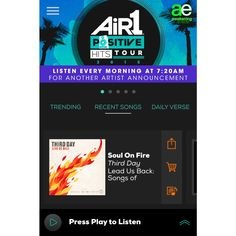 REPIN if you use the Air1 Mobile App! Don't have it yet? Download it free, and listen to Air1 everywhere you go: http://www.air1.com/music/mobile-app.aspx