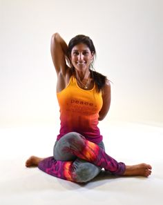 "MishogaWear ""Peace"" yoga Tank paired with ""AUMbre OM"" Yoga Pants"