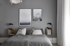 Top 60 Best Grey Bedroom Ideas - Neutral Interior Designs Ditch the vibrant colors for one of subtlety and sophistication with the top 60 best grey bedroom ideas. Grey Bedroom With Pop Of Color, Bedroom Inspiration Grey, Gray Bedroom Walls, Bedroom Interior, Stylish Bedside Tables, Grey Bedroom Decor, Grey Bedroom Design, Neutral Interior Design, Room Ideas Bedroom