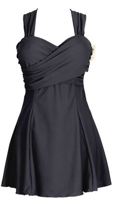 Women's Elegant Crossover Swimwear One Piece Swimdress Skirted Bottom Swimsuit: Amazon.ca: Clothing & Accessories