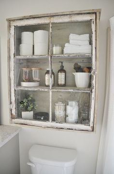 DIY antique window cabinet- See how to make this super easy antique window…