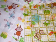 Monkey and animal print flannel  fabric  by FransUniqueTreasures, $6.50
