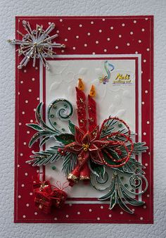 Xmas quilling......If I could make this I would keep it! Looks like a lot of work!