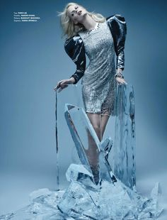 """Caroline Winberg in """"Heart of Glass"""" Photographed By Paco Peregrin & Styled By Harold Jay Melvin For Elle Mexico, January 2011 Caroline Winberg, Elle Mexico, Ice Princess, Beauty Shots, Fashion Story, Business Attire, Female Models, Fashion Photography, Ballet Skirt"""