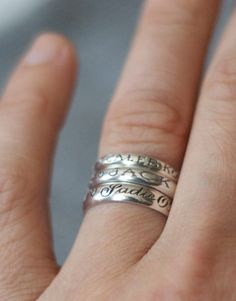 Love  Victory Baby Name Rings