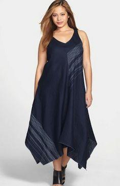 Eileen Fisher Plus Size Asymmetric Dress