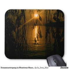 Sonnenuntergang in Montreux Mauspad Mousepad, Sunset, Simple, Nice Asses, Photo Illustration