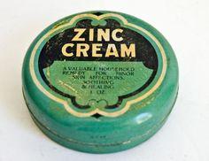 Old tin of Zinc Cream