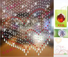 crystal beaded curtainglass beads curtain crystal by lingyunji, $85.00