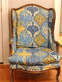 Reupholster a wing back chair
