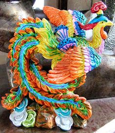 ShukerNature: UNFURLING CHINA'S FENG-HUANG – THE 'OTHER' PHOENIX Greater Bird Of Paradise, Vermilion Bird, Chinese Wall, Chinese Mythology, Legendary Creature, Cryptozoology, Sea Monsters, Bird Design, Green And Purple