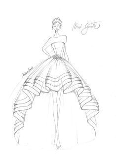 Dress Design Drawing, Dress Design Sketches, Fashion Design Sketchbook, Fashion Design Drawings, Fashion Drawing Tutorial, Fashion Figure Drawing, Fashion Drawing Dresses, Fashion Dresses, Fashion Illustration Tutorial